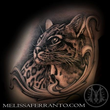 Tattoos - OCELOT PORTRAIT TATTOO  - 112414