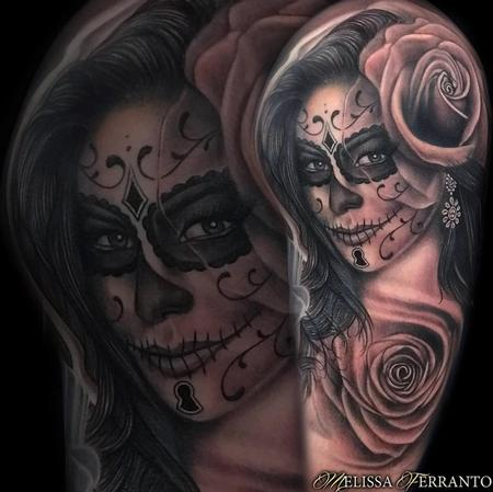 DAY OF THE DEAD PORTRAIT TATTOO  Tattoo Design Thumbnail