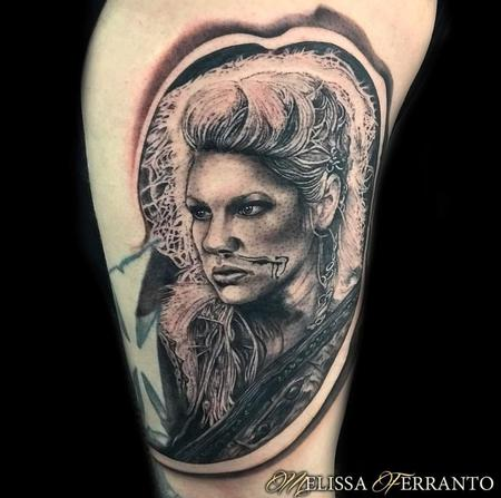 Lagertha from Vikings Tattoo Design Thumbnail