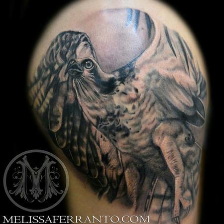 Tattoos - OSPREY  PORTRAIT TATTOO - 112417