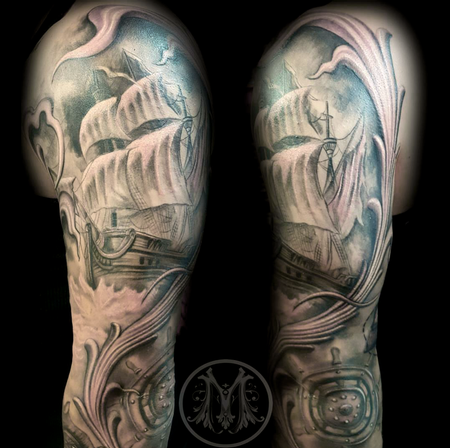 Tattoos - PIRATE SLEEVE  - 122944