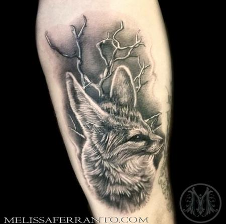 FENNEC FOX  Tattoo Design Thumbnail