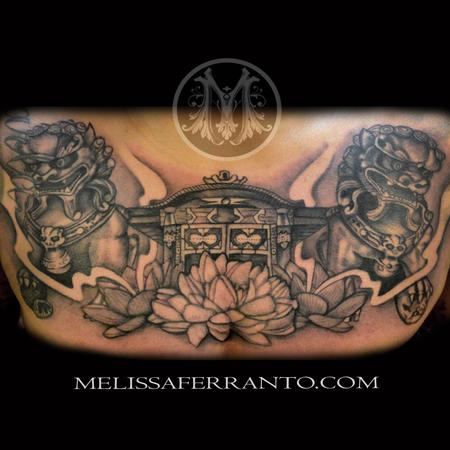 Foo Dog Japanese Temple Tattoo Design Thumbnail