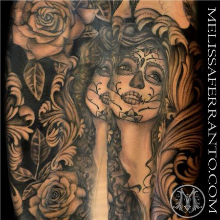 Day of the Dead Half Sleeve Tattoo Design