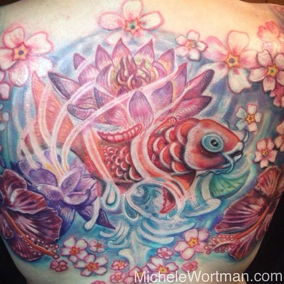 Tattoos - Yolandas Koi in Watergarden Splender - 91908