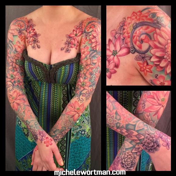 Vintage floral bodyset on Renee Tattoo Design