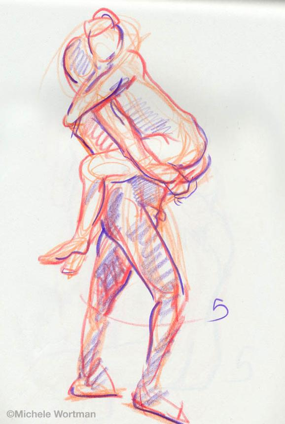 Michele Wortman - Palette&Chisel 2003  5min sketch