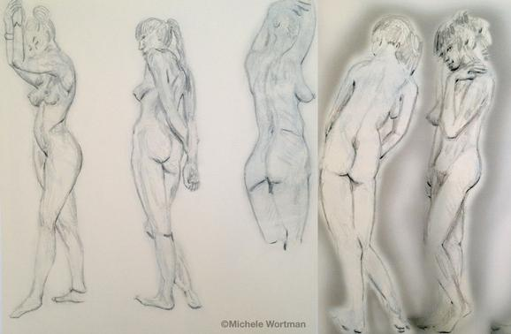 Michele Wortman - Palette&Chisel 1998 5min sketches