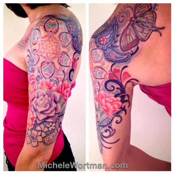 Michele Wortman - Caitlins Lacey Paisley half sleeve