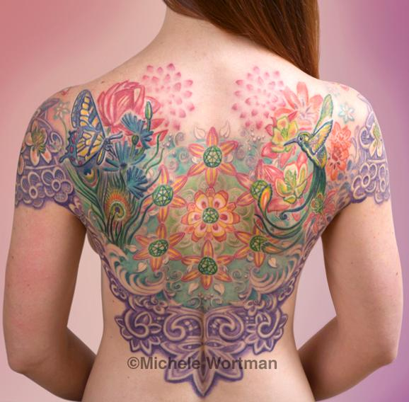 Mandala backpiece Tattoo Design Thumbnail