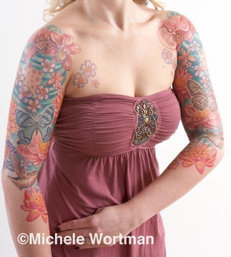 Michele Wortman - Jenn flight and flowers bodyset