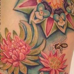 Tattoos - Chloes Succulent Cosmic Garden Leg set - 91900