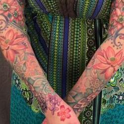 Tattoos - Vintage floral bodyset on Renee - 117143