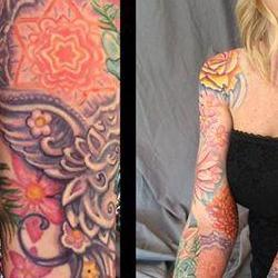 Tattoos - Lisas  Feathers and Flowers bodyset - 117140