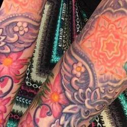 Tattoos - Lisas  Feathers and Flowers bodyset - 117139