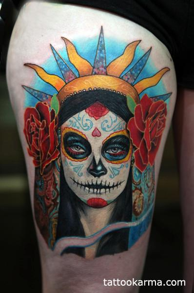 Day of dead Tattoo Design Thumbnail