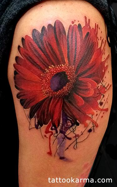 Red flower Tattoo Design Thumbnail