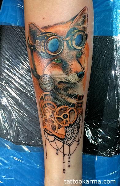 Fox steampunk tattoo Tattoo Design