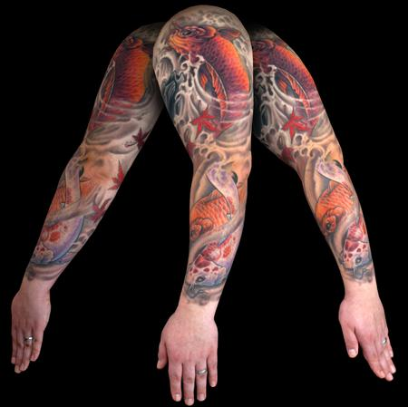 Tattoos - Ben's Koi tattoo - 62223