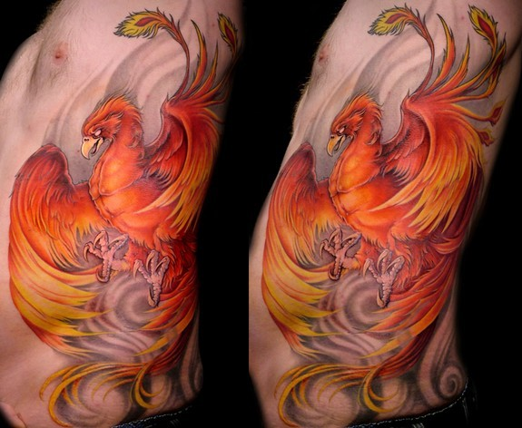 Mathew Clarke - Color Phoenix tattoo.