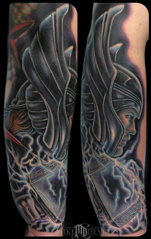 mike devries tattoos coverup thor tattoo. Black Bedroom Furniture Sets. Home Design Ideas