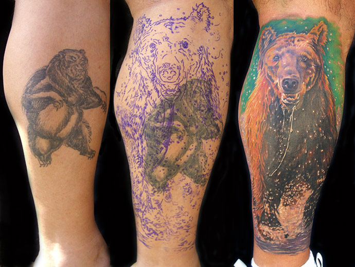 Mike DeVries - Bear Tattoo