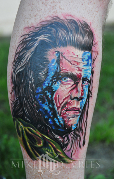 Mike DeVries - Braveheart Tattoo