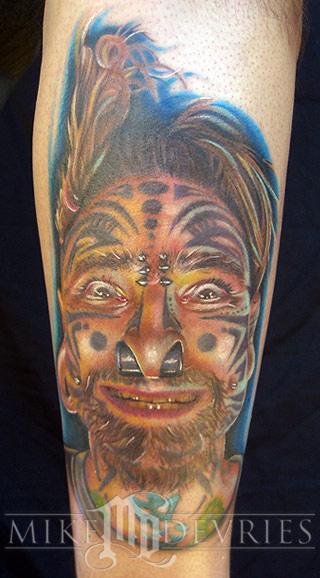 Tattoos - Cholo Portrait - 16543