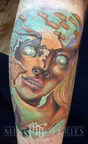 Mike DeVries Dali Leave Comment Keyword Galleries Color Tattoos