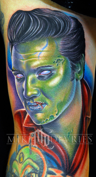 Tattoos - Zombie Elvis Tattoo - 26275