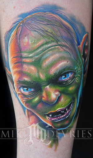 Mike DeVries - Gollum Tattoo
