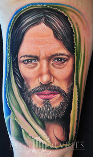 Mike DeVries Jesus Leave Comment Keyword Galleries Color Tattoos