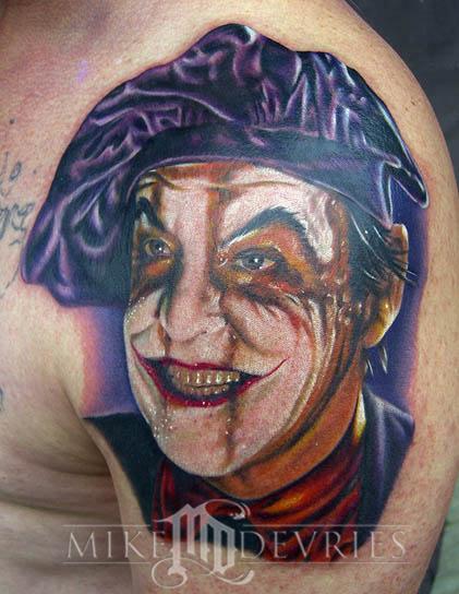 The joker tattoo by mike devries tattoos for The joker tattoo