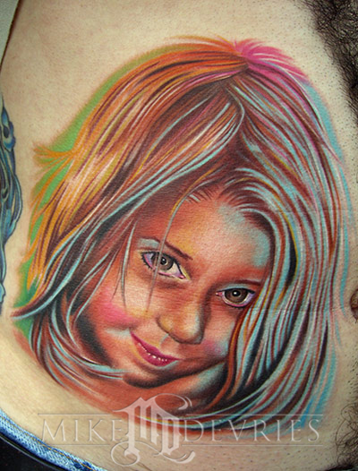 Tattoos - daughter portrait - 15854