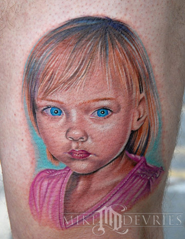 Tattoos - Little Girl Tattoo - 21278