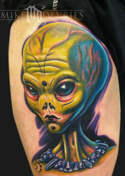 Alien Tattoo Tattoo Design Thumbnail