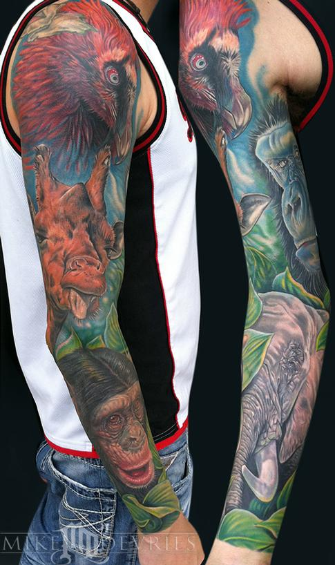 Animal Sleeve Tattoo Design Thumbnail