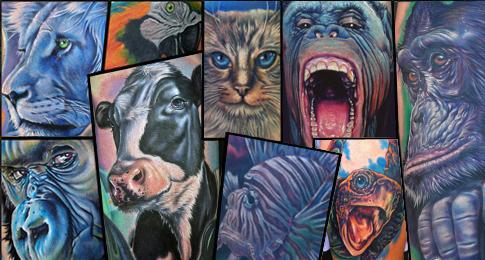 Realistic Animal Tattoos
