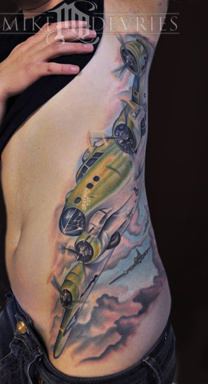 Tattoos - B-17 Bomber - 52622