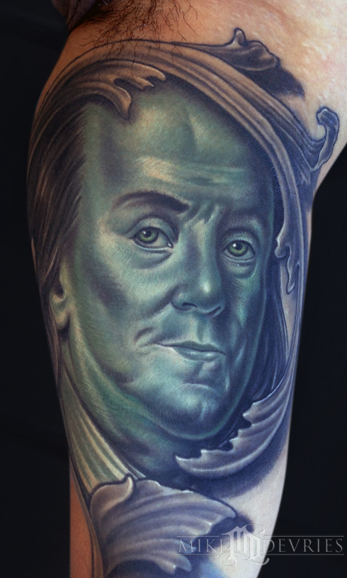 Mike DeVries - Ben Franklin Tattoo