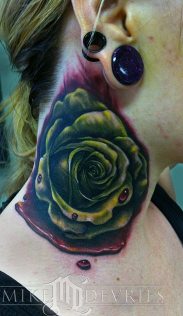 Tattoos - Blood Rose Tattoo - 53216