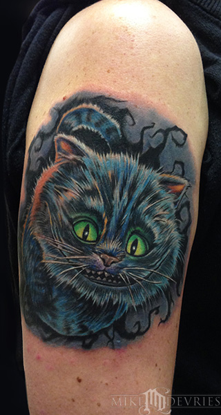Mike DeVries - Cheshire Cat Tattoo
