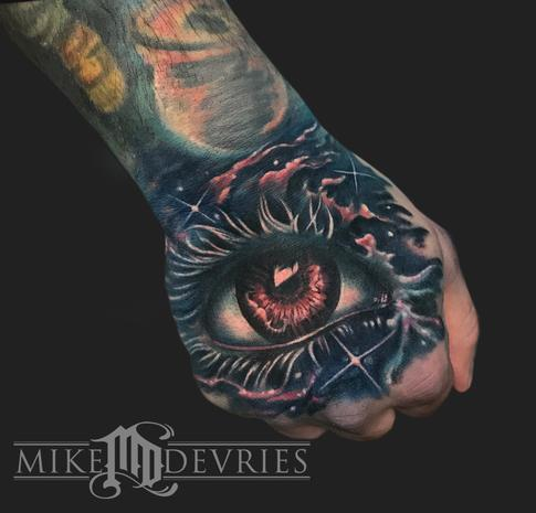 Cosmic Eye Tattoo