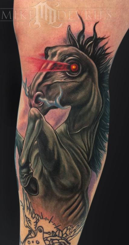 Dark Horse Tattoo Tattoo Design Thumbnail