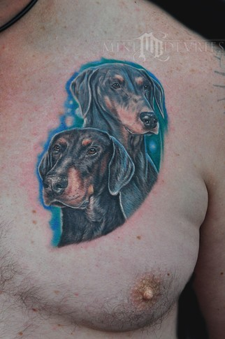 Mike DeVries - Doberman Tattoos