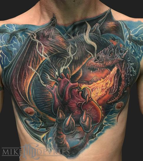 Tattoos - Dragon Chest Piece - 125417