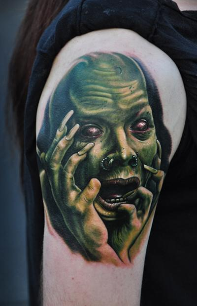 Tattoos - Crazy Face Tattoo - 64252