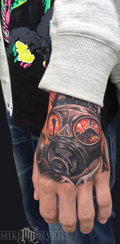 Mike DeVries - Gas Mask Tattoo