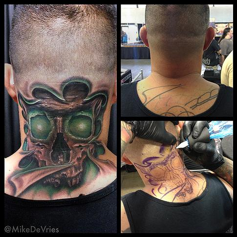 Mike DeVries - Glow skull tattoo