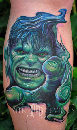 Mike DeVries - Hulk Tattoo
